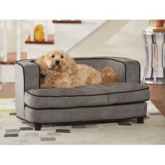 Enchanted Home Pet Cliff Bed Ultra Plush Pet Bed, 34.5' L by 22.5' W, Grey -- Be sure to check out this awesome product.