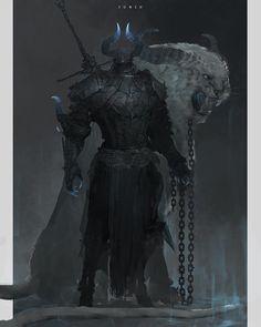 Darkest Knights — scifi-fantasy-horror: Dark Knight by Ben Juniu Dark Fantasy Art, Fantasy Artwork, Fantasy Concept Art, Fantasy Kunst, High Fantasy, Fantasy Character Design, Dark Art, Character Art, Demon Artwork