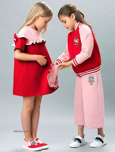 ALALOSHA: VOGUE ENFANTS: Must Have of the Day: Girls Red Jersey Dress by Fendi