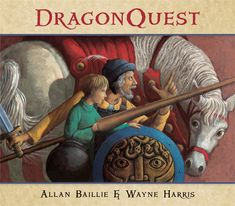 DragonQuest by Allan Baillie and illustrated Wayne Harris - A mission to find the last dragon winds through a perilous landscape, but the knight sees no trace of the creature. Can the eagle-eyed reader spot it? (Ages 5-9) #picturebooks #kidlit #dragons