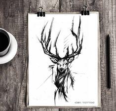 Tattoo ideas tattoo designs ideas männer männer ideen old school quotes sketches Wolf Tattoos, Nature Tattoos, Animal Tattoos, Sketch Style Tattoos, Tattoo Sketches, Tattoo Drawings, Art Sketches, Stag Tattoo, Lion Tattoo