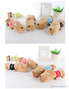 New Brand Stuffed Animals Plush Toys Bag Dog Toy gifts for Kids 2015 new animal toy kids toys dolls Children's Day birthday gift freesh