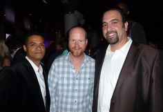 Joss, Damien & Eddie at Comic-Con 2013 Monica (m=Sp/A/T/P) took the picture.
