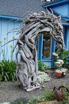 driftwood horse sculpture-wow!