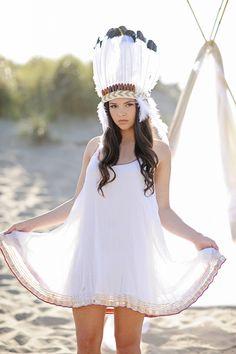 White Feather Headpiece