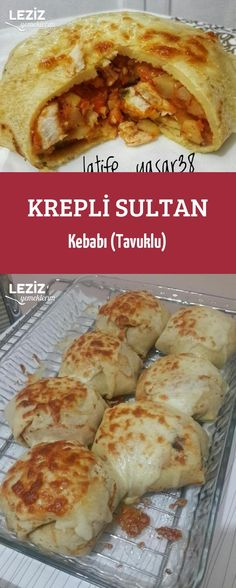Krepli Sultan Kebabı (Tavuklu) – Leziz Yemeklerim – Tavuk tarifleri – Las recetas más prácticas y fáciles Crepes, Food Decoration, Iftar, Turkish Recipes, Savoury Dishes, Different Recipes, Chicken Recipes, Food And Drink, Cooking Recipes
