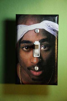 Tupac Shakur Light Switch Cover girl boy teen room home decor rap hip hop music