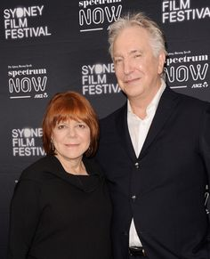 """March 2015 -- Alan Rickman with his wife Rima Horton """"A Life In Pictures"""" photo from """"The Sydney Film Festival"""" (Photo by Mark Sullivan/WireImage)"""