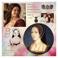 """Anne Boleyn's many faces"" by mo-g-v ❤ liked on Polyvore featuring art"