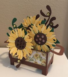 A Thing for Paper: Sunflower Box Card
