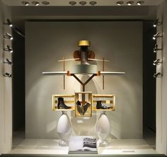 Designer Fotis Evans' conceptual store windows for Hermès, New York TOTEM Window Furniture, Furniture Logo, Metal Furniture, Somerset, Hermes Window, French Luxury Brands, Evans, Luxury Store, Window Graphics