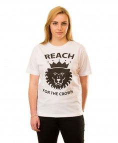 Crowned Lion T-shirt in White The Crown, Lion, T Shirt, Collection, Tops, Women, Fashion, Leon, Supreme T Shirt