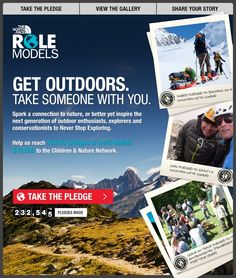 Get Outdoors. Take someone with you. Take @The North Face #RoleModels pledge & share your passion for the #outdoors with someone you know: apps.facebook.com/tnfrolemodels