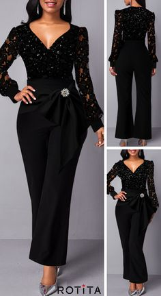 Jumpsuits&Rompers online for sale Classy Dress, Classy Outfits, Stylish Outfits, Cute Dresses, Casual Dresses, Dress Outfits, Fashion Dresses, Christmas Dress Women, Long Sleeve Evening Gowns