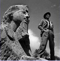 Jean Cocteau and Alabaster Sphinx, Memphis, Egypt - Dimitris Papadimos Memphis Egypt, Jean Cocteau, Ancient Egypt, Statue, Photography, Masters, Poems, Artists, Master's Degree