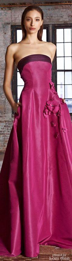 Pink bridesmids dress   pink wedding   Pamella Roland Pre-Fall 2015