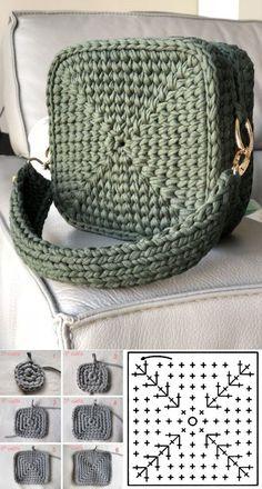 Escolha e copie: 18 Modelos de bolsa Summer Bag ⋆ De Frente Para O Mar – crochet/ knitting – Home crafts Crochet Bag Tutorials, Crochet Crafts, Crochet Projects, Diy Crafts, Diy Crochet Bag, Crochet Case, Crochet Summer, Knit Crochet, Crochet Handbags