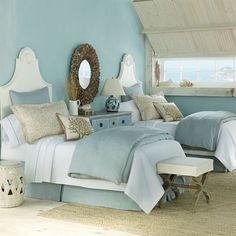 the color scheme is pretty. pale turquoise + the color of sands + some whites. adore. ~ Anny