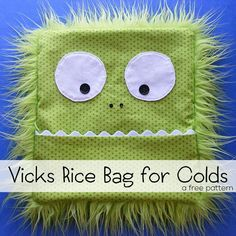 Make a soothing Vicks Vaporub scented rice bag to ease a cough and stuffy nose without having to rub on the sticky stuff.