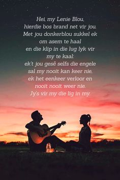 #lenieblou #spoegwolf #afrikaans Song Quotes, Song Lyrics, Words Quotes, Qoutes, Afrikaans Quotes, Rhymes Songs, Live Love, Love Songs, Sad