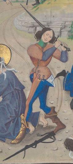 « Croniques abregies commençans au temps de Herode Antipas, persecuteur de la chrestienté, et finissant l'an de grace mil IIc et LXXVI », ou « livre traittant en brief des empereurs », par David Aubert. Tome Ier  Date d'édition :  1401-1500  Ms-5089 réserve  Folio 19r