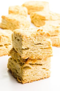 These flaky vegan biscuits are folded, creating tender, flaky biscuits time and time again. Serve biscuits alongside your favorite plant-based meals or have them as a tasty breakfast any day of the week. Serve these buttery biscuits with gravy, jam, or even sliced in half and filled with your favorite sandwich ingredients! #namelymarly #veganbiscuits #biscuits #veganbread