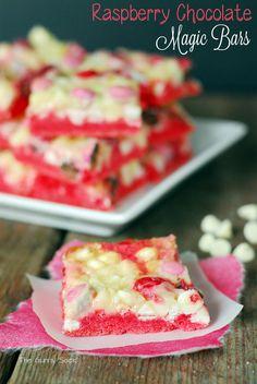 Raspberry Chocolate Magic Cookie Bars