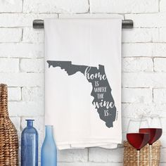 Choose Your City and Coordinates Flour Sack Tow... Missouri Home Kitchen Towel
