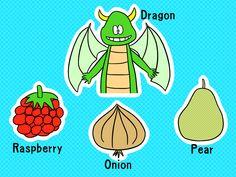DROP (Dragon, Raspberry, Onion, Pear) / #Food #Fruit #Vegetable #UXGA