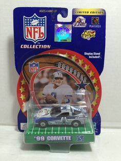 (TAS010725) - 2000 Hasbro NFL Dallas Cowboys Troy Aikman '99 Corvette Die-Cast C