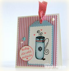 Winter card for Coffee loving cardmaker winter blog hop