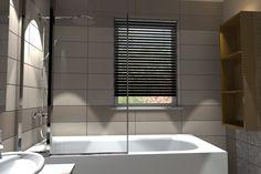 5. A differenza degli altri bagni della villa, Gentle è dotato di una vasca combinata con sistema doccia a parete