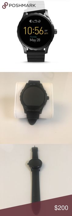 ❗OFFERS WELCOME❗️FOSSIL SMARTWATCH❗ Q MARSHAL TOUCHSCREEN BLACK SILICONE SMARTWATCH. This watch is $300 in the store. I will not come down much for this watch Fossil Accessories Watches