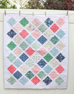 Modern Farmhouse Baby Lattice Quilt | Diary of a Quilter - a quilt blog