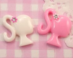 Cute Barbie Head Kawaii Flat Back #Cabochons #Decoden Kitsch