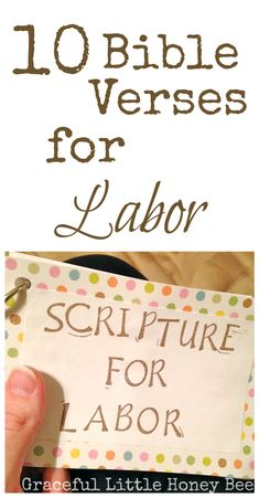 Scriptures for Labor