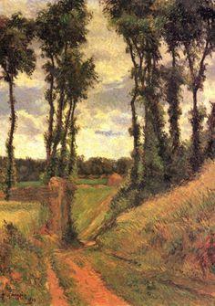 Paul Gauguin. Pappeln. 1883, Öl auf Leinwand, 73 × 54 cm. Kopenhagen, Ny Carlsberg Glyptotek. Synthetismus, Landschaftsmalerei. Frankreich. Postimpressionismus. KO 01438