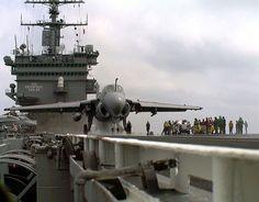 An A-6E Intruder prepares for launch aboard USSEnterprise.