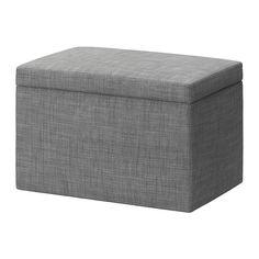 IKEA - FJÄRA, Bettkasten, Isunda grau, , Leicht sauber zu halten - der abnehmbare Bezug kann chemisch gereinigt werden.