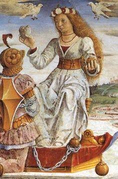 Francesco del Cossa  Allegory of April: Triumph of Venus (detail)