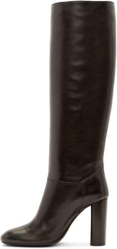 Lanvin | Black Tall Calfskin Knee-high Boots