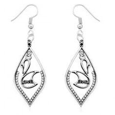 Swan Love Drop Earrings