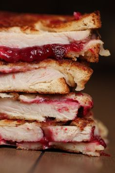 The Ultimate Thanksgiving Leftover Grilled Cheese Sandwich...or any other time of the year!