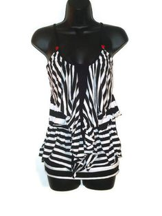 Black and White Striped Ruffled Tank Top...............SO CUTE!!!!!!!!!!!!!!!❤❤