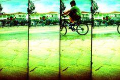 Bike.  © Chris Trew / Plastic Cameras 2012.  Multiframed Supersampler on 35mm film.