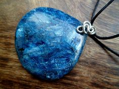Blue apatite and sterling silver necklace by Unics on Etsy, $42.00