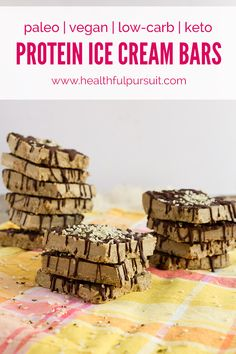 Matcha Protein Ice Cream Bars #vegan #dairyfree #eggfree #sugarfree #glutenfree #lowcarb #keto