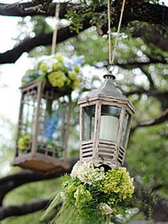 The Knot interesting flower ideas:  Floral lanterns