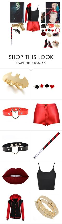 """Celina Jester Quinn: Joker and Harley Quinn's Daughter"" by lifeasgege on Polyvore featuring Rock Rebel, Noir, Topshop and Dr. Martens"