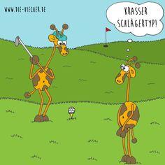 @DieViecher , Cartoon , Comic , Giraffe , Giraffen , www.die-viecher.de , Oberhausen , NRW , Deutschland , Cartoonist, Eva Böhm, Redewendung, Sprichworte, Wortspiele, schwarzer Humor, Wortwitz, wortwörtlich nehmen, über Worte stolpern, Digitalart, Zeichnen mit iPad Pro und Apple Pencil, Animation Cartoon, lustige Tiere, typisch Deutsch, Goldfschläger, Golf Witz, Golfer Witz, Golferwitz, Schlägertyp, Schlägertypen, Golf spielen,Golfplatz